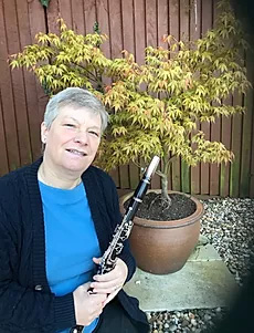 Rose with Clarinet and tree